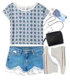 """""""BAM, it's blue!"""" by waterrmelin ❤ liked on Polyvore featuring Aéropostale, Converse, Free People, Michael Kors, casual, Blue, whatever, Silver and converse"""