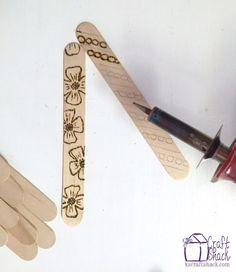 wood burning craft stick bookmarks