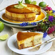 Cheesecake version of traditional Filipino dessert Leche Flan (aka Milk flan, or flan de leche) Yema Cake, Flan Cake, Custard Cake, Flan Cheesecake, Baking Recipes, Cake Recipes, Dessert Recipes, No Bake Desserts, Easy Desserts