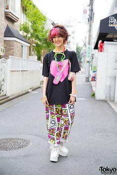 Rikarin, 19 years old, student | 22 July 2015 | #Fashion #Harajuku (原宿) #Shibuya (渋谷) #Tokyo (東京) #Japan (日本)