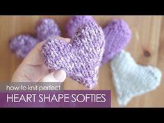 How to Knit a Heart Shape   Puffy Heart Softies