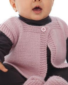 57 ideas crochet baby jacket boy free knitting for 2019 Knitting Patterns Boys, Baby Sweater Patterns, Baby Cardigan Knitting Pattern, Knit Baby Sweaters, Knitted Baby Clothes, Knitting For Kids, Baby Patterns, Free Knitting, Vest Pattern