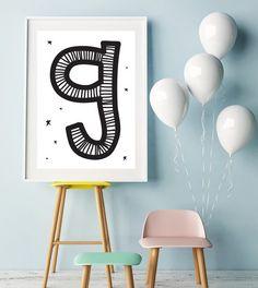 Letter G   ► Letters & Symbolen   Postersinhuis.nl