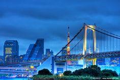 Rainbow Bridge Tokyo by de lo, via Behance