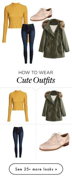 """Cute winter outfit"" by nitroven on Polyvore featuring H&M, WithChic, women's clothing, women's fashion, women, female, woman, misses and juniors"