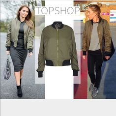 Green Bomber Jacket | Topshop (almost sold out) | STYLE STAPLES ...