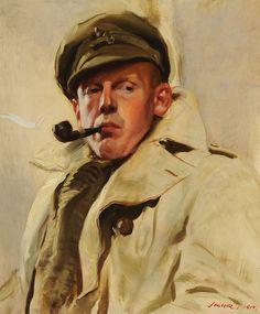 Portrait of Charles Jagger - 1917 David Jagger (1891-1958) Oil on canvas