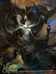 Artist: Ignacio Bazán Lazcano aka neisbeis - Title: transcendental deity reg - Card: Babel, Enemy of Heaven