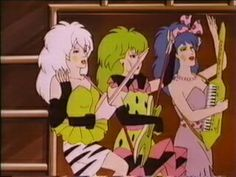 """The Misfits from """"Jem"""".... looking back, I think these ladies rock"""