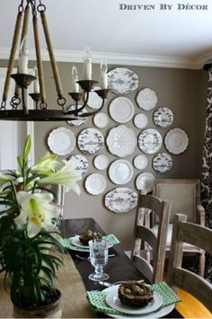 Create a beautiful display with plates