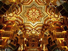 Ceiling, Cardiff Castle, Cardiff, Wales.