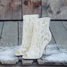 Love these Meadowlark lace booties!
