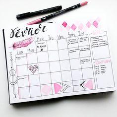 """Polubienia: 112, komentarze: 6 – Virginie (@french_dreamer_life_lover) na Instagramie: """"En février, je vois la vie en rose   #fevrier #february #monthlylog  #monthly #log #bulletjournal…"""""""