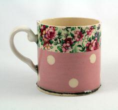 Pink floral mug | Made By Hand Online   Virginia Graham