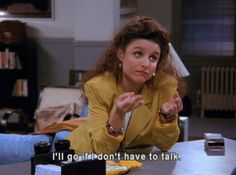 Elaine Benes from Seinfeld, of course. Infj, Introvert Love, Introvert Personality, Introvert Humor, Personality Types, Mbti, This Is Your Life, Story Of My Life, The Cw