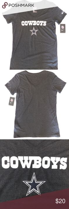 d1deadbf75aed Women s Nike Dallas Cowboys T-shirt Women s Large NWT WOMEN S NIKE DALLAS  COWBOYS V-