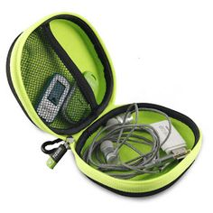 TIZUM Earphone Carrying Case - Multi Purpose Pocket Storage Travel Organizer Case for Headphone, Pen Drives, Memory Card, Data Cable (Gray) Price, Details, Review and Demo Video with Pictures