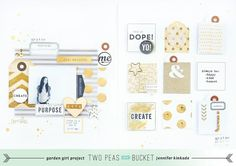 Scrap Your Stash: *Gold*   a good day by Jen Kinkade - Two Peas in a Bucket