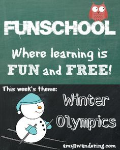 Funschool: Winter Olympics - a list of FREE educational lesson plans and printables to use during the 2014 Winter Olympics