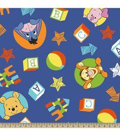Winnie The Pooh Play Fleece Fabric