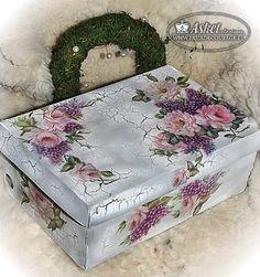 caixa de madeira , usando craquelado