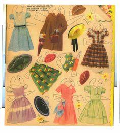 Happy Birthday Paper Dolls 1952