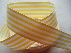 yellow & white ribbon