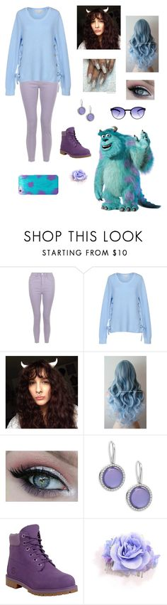 """""""Female James P. Sullivan"""" by helloizmeabby ❤ liked on Polyvore featuring INC International Concepts, MICHAEL Michael Kors, Roberto Coin, Timberland and Mykita"""