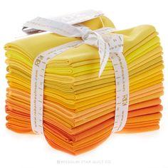 Kona Cotton - Citrus Burst Fat Quarter Bundle - Robert Kaufman Fabrics - Robert Kaufman