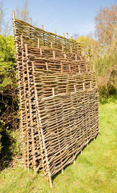 Papillon™ Hazel Hurdles Fencing Panel Woven from coppiced hazel to a traditional pattern, this beautiful, robust and eco-friendly hazel fence panel will make a perfect practical addition to your garden. Willow Fence Panels, Diy Garden Fence, Building A Fence, Pallet Fence, English Country Gardens, Bamboo Fence, Fence Landscaping, Beautiful Gardens, Garden Design
