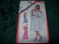 Simplicity Summer SunDress Pattern 5495, Sewing Pattern by vintagecitypast on Etsy