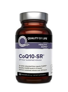 Powerful CoQ10 Supplement–Sustained Released MicroActive CoQ10 for Enhanced Absorption – 100mg of CoQ10 Per Capsule Supports Cardiovascular, Immune, Energy & Heart Health–60 Vegetable Capsules