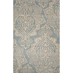 Bristol By Rug Republic Wool Hand Tufted Blue/White Area Rug