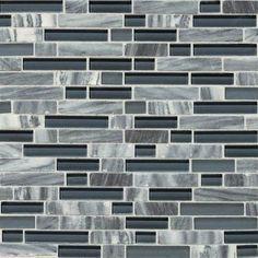 Shower accent tile: Glacier Gray Marble Random Mosaic Blend SA59