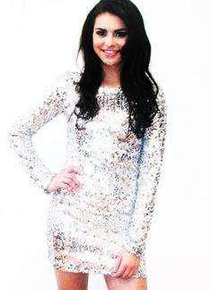 Disco Diva Full Sleeve Sequin Dress,  Dress, las vegas dress  party dress  birthday, Chic