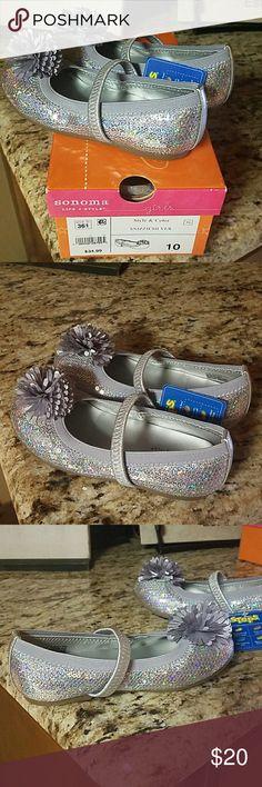 5832de0d15c9 Girls shoes Silver sequin ballet slipper shoes, Brand New in Original Box,  Never Worn. Sonoma brand from Kohls.
