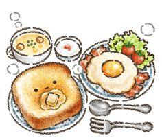 Cute Food Drawings, Cute Little Drawings, Cute Kawaii Drawings, Kawaii Art, Kawaii Doodles, Cute Doodles, Cute Food Art, Cute Art, Cute Kawaii Animals