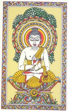 Lord Buddha in an Orissan Pata Painting