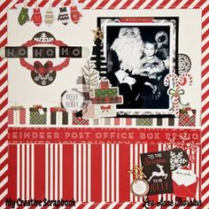 Project Ideas for Carta Bella Paper - Christmas Delivery Collection - 12 x 12 Cardstock Stickers - Elements Christmas Scrapbook Layouts, Scrapbook Page Layouts, Scrapbook Paper Crafts, Scrapbooking Ideas, Photo Layouts, Christmas Music, 1st Christmas, Xmas, Christmas Ideas