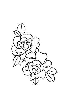 𝚏 𝚘 𝚕 𝚕 𝚘 𝚠: 𝚌 𝚊 𝚒 𝚝 𝚕 𝚒 𝚗 𝚏 𝚛 𝚘 𝚖 𝚢 𝚝 ❤ tattoos n pierc Cute Tattoos, Flower Tattoos, Body Art Tattoos, Sleeve Tattoos, Flower Outline Tattoo, Botanical Line Drawing, Floral Drawing, Tattoo Sketches, Tattoo Drawings