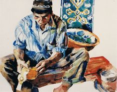 Brian Baxter: Uzbek Craftsman Craftsman, People, Painting, Art, Artisan, Art Background, Painting Art, Paintings, Kunst