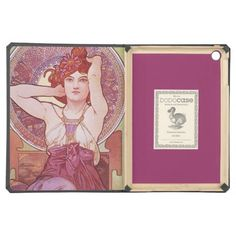Alphonse Mucha Amethyst Art Nouveau Cover For iPad Air