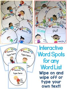 Fun, fun, fun! I love how these Interactive Word Spots get children moving whilst learning new words.