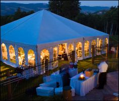 Tented event by Callier's Catering.