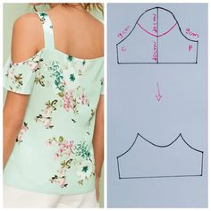 Easy 50 Sewing tutorials projects are readily available on our site. Take a look and you wont be sorry you did. Dress Sewing Patterns, Blouse Patterns, Clothing Patterns, Blouse Designs, Fashion Sewing, Diy Fashion, Sewing Sleeves, Costura Fashion, Sewing Blouses