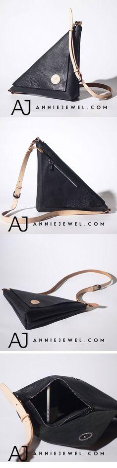 GENUINE LEATHER CHEST BAG HANDMADE TRIANGLE BAG CROSSBODY BAG SHOULDER BAG DESIGNER BAG PURSE CLUTCH FOR WOMENS