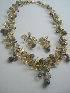 Statement necklace thanks sold out Champagne citrine muslin amethyst necklace