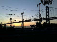 Sunrise overlooking the Bay Bridge the morning of the 101st Bay to Breakers (5/20/12)