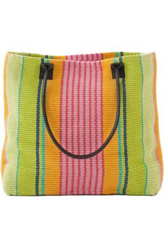 #DashAndAlbert Parasol Stripe Woven Cotton Tote Bag