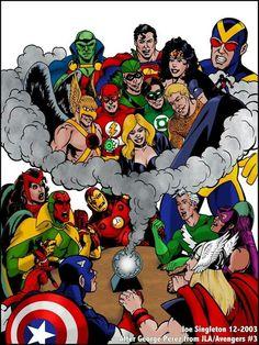 Avengers meets the Justice League